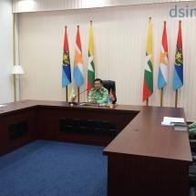 တပ်မတော်ကာကွယ်ရေးဦးစီးချုပ် ဗိုလ်ချုပ်မှူးကြီး မင်းအောင်လှိုင် Joint Peace Fund (ငြိမ်းချမ်းရေးရန်ပုံငွေအဖွဲ့)ဥက္ကဋ္ဌဖြစ်သူ မြန်မာနိုင်ငံဆိုင်ရာ ဆွစ်ဇာလန်နိုင်ငံ သံ အမတ်ကြီးအား Virtual Meeting ဖြင့် လက်ခံတွေ့ဆုံဆွေးနွေး
