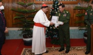 Families of Tatmadaw (Army, Navy and Air) donate COVID-19 prevention, containment and treatment aids and cash assistance for Saint Mary Cathedral, Zafar Shah Memorial