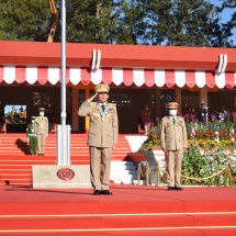 """Try to be reliable leaders for country and Tatmadaw who possess strength and wisdom in accordance with motto of Defence Services Academy """"Triumphant Elite of the Future"""""""