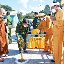Groundbreaking and cash donation ceremony to reconstruct grand Haw Palace (Haw Kunshanwi) of Hsenwi Saopha Hkun Sang Ton Hong held