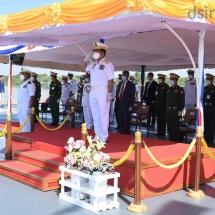 (၇၃)နှစ်မြောက်တပ်မတော်(ရေ)နေ့အထိမ်းအမှတ် တိုက်ခိုက်ရေးရေငုပ်သင်္ဘော စစ်ရေယာဉ် (မင်းရဲသိင်္ခသူ) အပါအဝင် စစ်ရေယာဉ်များ တပ်တော်ဝင်ခြင်း အခမ်းအနား ကျင်းပပြုလုပ်(ရုပ်သံသတင်း)