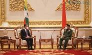 တပ်မတော်ကာကွယ်ရေးဦးစီးချုပ် ဗိုလ်ချုပ်မှူးကြီး မင်းအောင်လှိုင် တရုတ်ပြည်သူ့သမ္မတနိုင်ငံ၊ နိုင်ငံတော်ကောင်စီဝင်နှင့် နိုင်ငံခြားရေးဝန်ကြီးဖြစ်သူ H.E. Mr. Wang Yi အား လက်ခံတွေ့ဆုံ (ရုပ်သံသတင်း)
