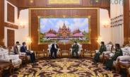 တပ်မတော်ကာကွယ်ရေးဦးစီးချုပ် ဗိုလ်ချုပ်မှူးကြီး မင်းအောင်လှိုင် ဂျပန်-မြန်မာ ချစ်ကြည်ရေးအသင်း ဥက္ကဋ္ဌနှင့် ဂျပန်အထက်လွှတ်တော်အမတ်ဟောင်း Mr. Hideo WATANABE အားလက်ခံတွေ့ဆုံ (ရုပ်သံသတင်း)