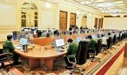 နိုင်ငံတော်စီမံအုပ်ချုပ်ရေးကောင်စီဥက္ကဋ္ဌ၊ တပ်မတော်ကာကွယ်ရေး ဦးစီးချုပ် ဗိုလ်ချုပ်မှူးကြီးမင်းအောင်လှိုင် စီမံခန့်ခွဲရေး ကော်မတီအစည်းအဝေး(၂/၂၀၂၁)သို့ တက်ရောက် အမှာစကား ပြောကြား