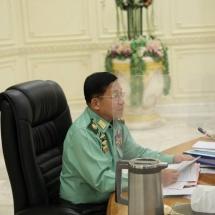 နိုင်ငံတော်စီမံအုပ်ချုပ်ရေးကောင်စီဥက္ကဋ္ဌ၊ တပ်မတော်ကာကွယ်ရေးဦးစီးချုပ် ဗိုလ်ချုပ်မှူးကြီး မင်းအောင်လှိုင် နိုင်ငံတော်စီမံအုပ်ချုပ်ရေးကောင်စီ ညှိနှိုင်းအစည်းအဝေး(၃/၂၀၂၁)သို့ တက်ရောက်အမှာစကားပြောကြား (ရုပ်သံသတင်း)