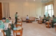 """ပြည်ထောင်စုသမ္မတမြန်မာနိုင်ငံတော် """" အမျိုးသားကာကွယ်ရေးနှင့် လုံခြုံရေး ကောင်စီ """" အစည်းအဝေးကျင်းပပြုလုပ်"""