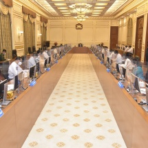 Chairman of State Administration Council Commander-in-Chief of Defence Services Senior General Min Aung Hlaingaddresses meeting 3/2021 of Management Committee of State Administration Council