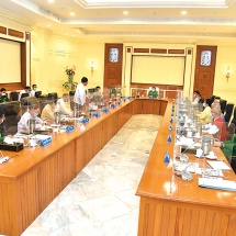 Chairman of the State Administration Council Commanderin-Chief of Defence Services Senior General Min Aung Hlaing addresses meeting 8/2021 of the Council