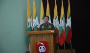 Chairman of State Administration Council Commander-in-Chief of Defence Services Senior General Min Aung Hlaing meets officers, other ranks, families of Magway Station