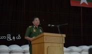 နိုင်ငံတော်စီမံအုပ်ချုပ်ရေး ကောင်စီဥက္ကဋ္ဌ တပ်မတော် ကာကွယ်ရေးဦးစီးချုပ် ဗိုလ်ချုပ်မှူးကြီးမင်းအောင်လှိုင် ဆူပူအကြမ်းဖက်သူများ၏ မီးရှို့ဖျက်ဆီးမှုကြောင့် ပျက်စီးခဲ့သည့် လှိုင်သာယာမြို့နယ်နှင့် ရွှေပြည်သာမြို့နယ် တို့ရှိ စက်မှုဇုန်များသို့ သွားရောက်ကြည့်ရှုစစ်ဆေး၊ ဒေသခံ ပြည်သူများအတွက် စားသောက်ဖွယ်ရာများ ပေးအပ်လှူဒါန်း
