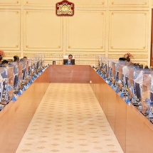 Chairman of State Administration Council Commander-in-Chief of Defence Services Senior General Min Aung Hlaing meets chairmen of region and state administration councils, chairmen of self-administered division and zone administration bodies, discusses development of region and state