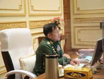 နိုင်ငံတော်စီမံအုပ်ချုပ်ရေးကောင်စီဥက္ကဋ္ဌ၊ တပ်မတော်ကာကွယ်ရေးဦးစီးချုပ် ဗိုလ်ချုပ်မှူးကြီး မင်းအောင်လှိုင် နိုင်ငံတော်စီမံအုပ်ချုပ်ရေးကောင်စီ စီမံခန့်ခွဲရေးကော်မတီအစည်းအဝေး (၆/၂၀၂၁)သို့ တက်ရောက် အမှာစကားပြောကြား