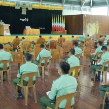 Every Tatmadaw member must train to be healthy and strong, follow military discipline and order for capacity building