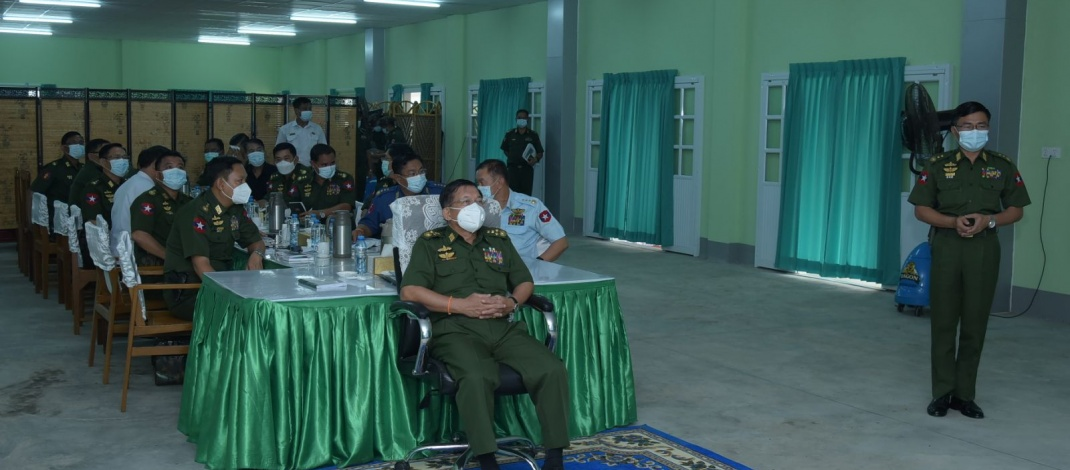 Chairman of State Administration Council Commander-in-Chief of Defence Services Senior General Min Aung Hlaing inspects progress of work at Thilawa multi-purpose farming zone