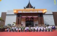 နိုင်ငံတော်စီမံအုပ်ချုပ်ရေးကောင်စီဥက္ကဋ္ဌ တပ်မတော်ကာကွယ်ရေးဦးစီးချုပ် ဗိုလ်ချုပ်မှူးကြီး မင်းအောင်လှိုင် မန္တလေး ရတနာပုံခန်းမ ဖွင့်ပွဲအခမ်းအနားသို့ တက်ရောက်ဖွင့်လှစ်