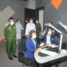 Chairman of State Administration Council Commander-in-Chief of Defence Services Senior General Min Aung Hlaing attends opening ceremonies of Moe Kaung Treasure Maternal and Child Hospital and Myawady Media Centre and formally opens the facilities