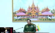 Chairman of State Administration Council Commander-in-Chief of Defence Services Senior General Min Aung Hlaing answers questions of Phoenix TV of China