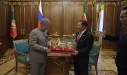နိုင်ငံတော်စီမံအုပ်ချုပ်ရေးကောင်စီဥက္ကဋ္ဌ၊ တပ်မတော်ကာကွယ်ရေးဦးစီးချုပ် ဗိုလ်ချုပ်မှူးကြီး မင်းအောင်လှိုင် Republic of Tatarstan သမ္မတ Mr. Rustam Nurgaliyevich Minnikhanov နှင့် တွေ့ဆုံဆွေးနွေး