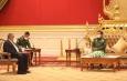 နိုင်ငံတော်စီမံအုပ်ချုပ်ရေးကောင်စီဥက္ကဋ္ဌ တပ်မတော်ကာကွယ်ရေးဦးစီးချုပ် ဗိုလ်ချုပ်မှူးကြီး မင်းအောင်လှိုင် ဘရူနိုင်း ဒါရူဆလမ်နိုင်ငံ၊ နိုင်ငံခြားရေးဝန်ကြီး H.E. Dato Erywan Pehin Yusof နှင့် အာဆီယံအတွင်းရေးမှူးချုပ်တို့အား လက်ခံတွေ့ဆုံ