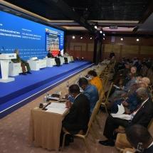 (၉) ကြိမ်မြောက် နိုင်ငံတကာလုံခြုံရေးဆိုင်ရာညီလာခံ(MCIS-2021) ဖွင့်ပွဲ အခမ်းအနားကျင်းပ၊ နိုင်ငံတော်စီမံအုပ်ချုပ်ရေးကောင်စီဥက္ကဋ္ဌ၊ တပ်မတော်ကာကွယ်ရေးဦးစီးချုပ် ဗိုလ်ချုပ်မှူးကြီး မင်းအောင်လှိုင် တက်ရောက်