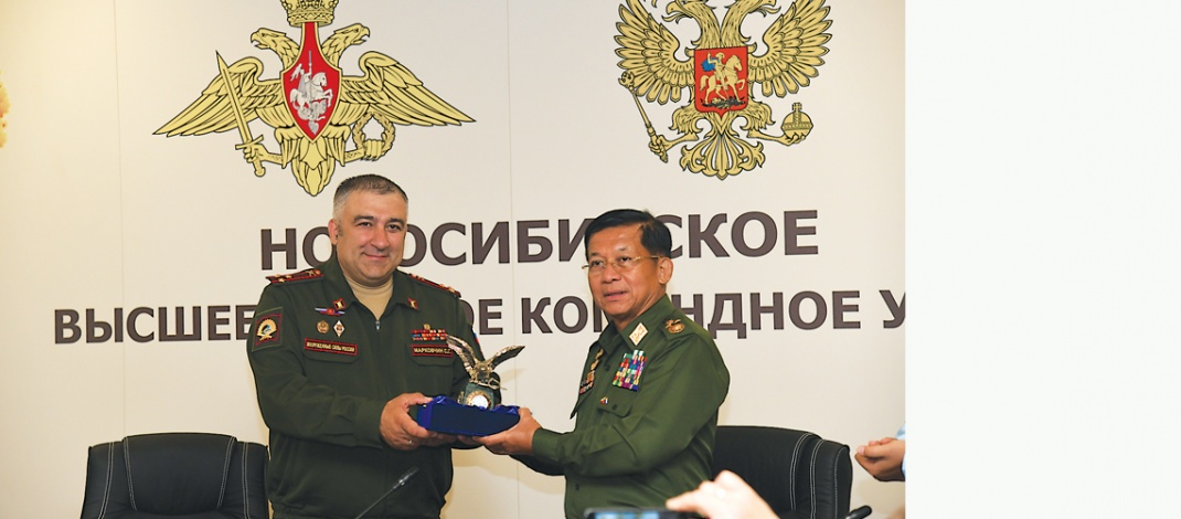 Delegation led by Chairman of State Administration Council Commander-in-Chief of Defence Services Senior General Min Aung Hlaing arrives in Novosibirsk, visits Novosibirsk State Academic Opera and Ballet Theatre, Higher Military Command School, Russian Academy of Science (Siberian Branch)