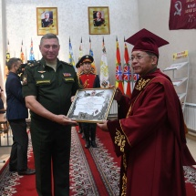 Military University of the Defence Ministry of Russia confers honorary professor on Chairman of State Administration Council Commander-in-Chief of Defence Services Senior General Min Aung Hlaing