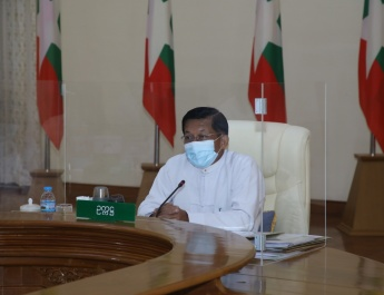 ကိုဗစ် – ၁၉ ရောဂါ ကာကွယ်၊ ထိန်းချုပ်၊ ကုသရေးဆိုင်ရာ (၉)ကြိမ်မြောက် ညှိနှိုင်းအစည်းအဝေးပြုလုပ်၊ နိုင်ငံတော်စီမံအုပ်ချုပ်ရေး ကောင်စီဥက္ကဋ္ဌ၊ နိုင်ငံတော်ဝန်ကြီးချုပ် ဗိုလ်ချုပ်မှူးကြီး မင်းအောင်လှိုင် တက်ရောက် အမှာစကားပြောကြား